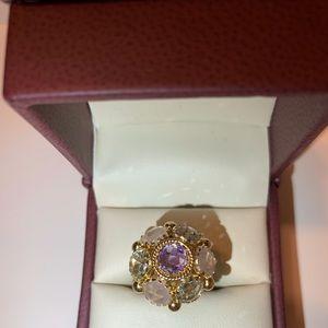 14k Gold Flower Ring